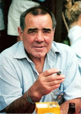 Dad having a cigar at his 60th