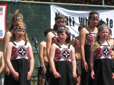 some of the girls at Ngati Whai
