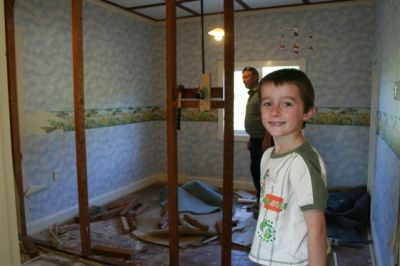 Destroying his room!