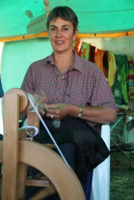 One of the Takapau School teachers hard at work