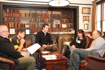 Cole dealing with a Human Resources Challenge at the historic Brancepeth Homestead in Wairarapa - 2011 Grand Final