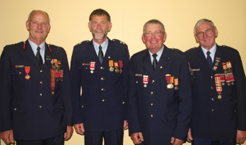 """There were four Gary's in the room - the most """"important"""" ones were in the middle, second from left Gary Oliver and third from left Garry de Malmanche."""